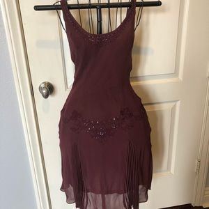 Arden B wine colored flapper/cocktail dress